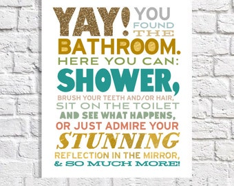 Bathroom Art funny bathroom art | etsy