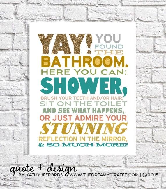 Funny Bathroom Art For The Bathroom Modern Bathroom Decor Kids