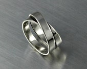 Silver Infinity Ring Criss Cross Design On Top
