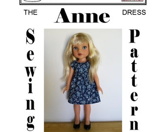 Sewing Pattern for Hearts 4 Hearts doll ANNE Dress PDF Download by Dolly Delicacies