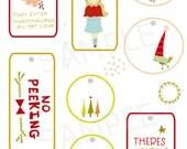 christmas printable - INSTANT DOWNLOAD - Printable Christmas Holiday Gift Tags & Hang Tags - DIY Holiday Labels jpeg