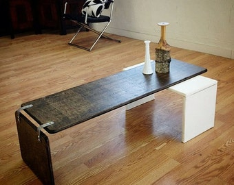 Ply Bak Pivot table  Mid Century Modern coffee table