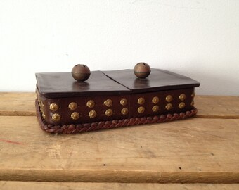 Artisan Made - Leather Jewelry Box - With Bells - Handcrafted Leather Jewelry Box