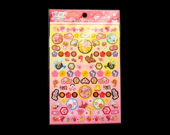 Plum Blossom Stickers - Japanese Washi Stickers - Traditional Japanese Stickers -  Crane Stickers - Plum Blossom Stickers S142