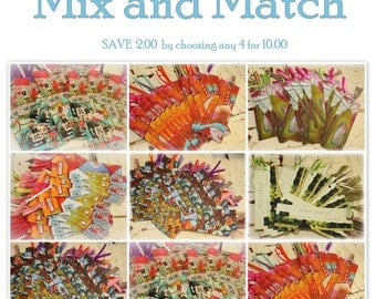 Mix and Match to Save!  Any Four Book Marks  Assorted or Same Style  You Choose   by Jodi Ohl