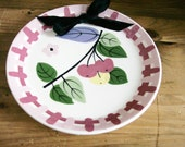 Cleminsons Pottery Wall Hanging Plate California Pottery 8 Inch Diameter