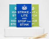 Novelty matchbox gag gift set  - Keep Calm and Carry On parody. Funny cute gift. 3 matchboxes handmade product. Dippylulu classics.