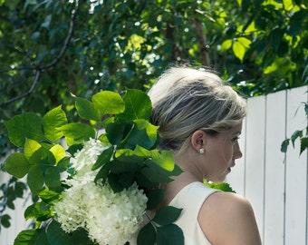 White Crystal Quartz - Quartz Jewelry - Druzy Crystal - Raw Quartz Crystal - White Earrings - Crystal Earrings - Wedding Earrings