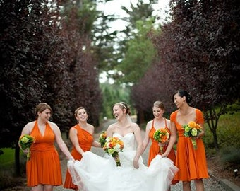 Offbeat Infinity Dress DIY designs for your radical bridesmaids 1000 colors CUSTOM MADE to size/length/color ecofriendly studio Made in UsA