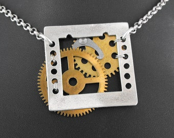 Steampunk Film Necklace - Capturing Imagination On Film by COGnitive Creations