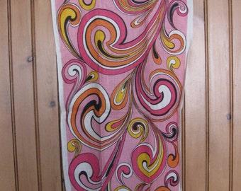 Swirly Pucciesque Peter Maxesque Vibrant Linen Tea Towel