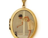 Art Locket - Tinkerbelle - Oil Painting Reproduction Art Locket Necklace