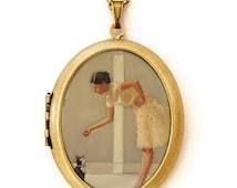 Art Locket - Tinkerbelle - Oil Painting Reproduction Art Locket Necklace