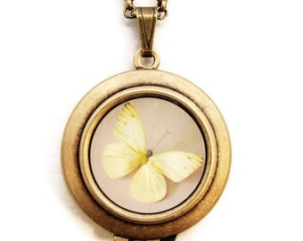 I Dream Of Sunshine - Photo Locket Necklace - Collaboration with SusannahTucker