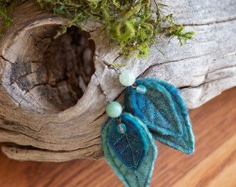 Faerie Felt Leaf Earrings