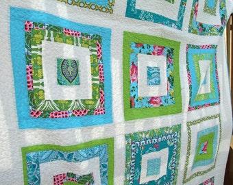 Modern Amy Butler Improv Quilt & Pillow Cover