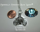 Cinderella Pumpkin Carriage Princess Fairytale Pendant Necklace Glow Locket