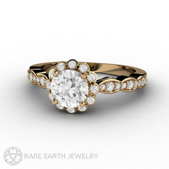 moissanite ring conflict free engagement ring by