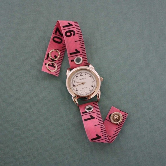 Tape Measure Watch - Round Face