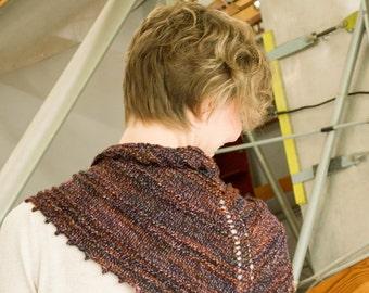 PDF Knitting Pattern: Thaden's Ridged Shawlette