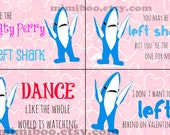 Left Shark Valentine printables 8 cards 8.5x11