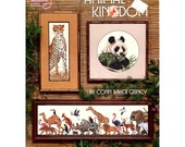Animal Kingdom Counted Cross Stitch Pattern Cheetah / Panther / Zebra / Panda - American School of Needlecraft 3607