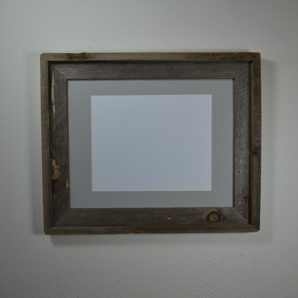11 X 14 Picture Frame With Gray Mat For 8x10 Or 9x12 By
