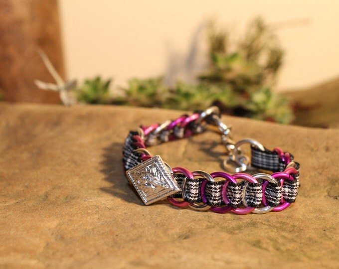 The Dundee Bracelet - Highland Dance edition - Menzies - Pink, Purple & Silver