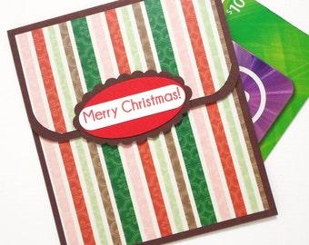 Christmas Gift Card Holder - Merry Christmas Card - Christmas Money Holder Card - Christmas Tip Card, Holiday Bonus Envelope