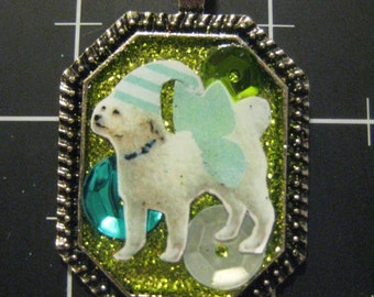 "Flutterdoodle, Celebrate Your Poodle Mix with this WInged ""Doodle"" Dog, 50% goes to the current selected animal charity"
