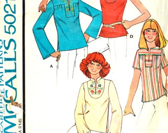 Set of Yoked Tops Sewing Pattern Size Small Bust 32.5 - 34