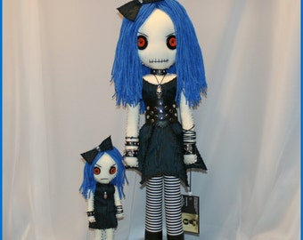 OOAK Hand Stitched Rag Doll Creepy Gothic Folk Art by Jodi Cain Tattered Rags