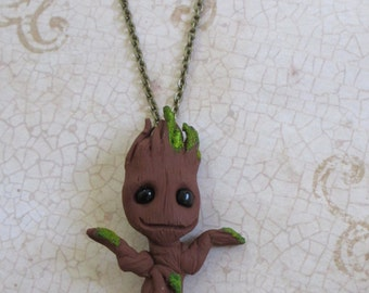 Baby Groot Sapling necklace