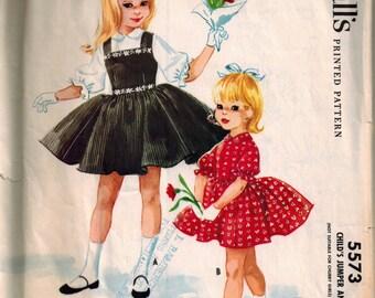 Vintage 60's Dress Pattern for Little Girls, Size 4, 1960