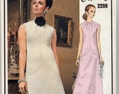 """Vintage Sewing Pattern Vogue 2208 Paris Original Givenchy Dress 34"""" Bust - Free Pattern Grading E-book Included"""
