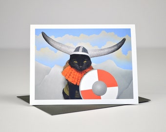 AC is a Viking Greeting Card