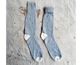 vintage c. 1970s gray wool blend boot socks