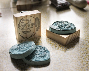 Danny Devito Handmade Stamp