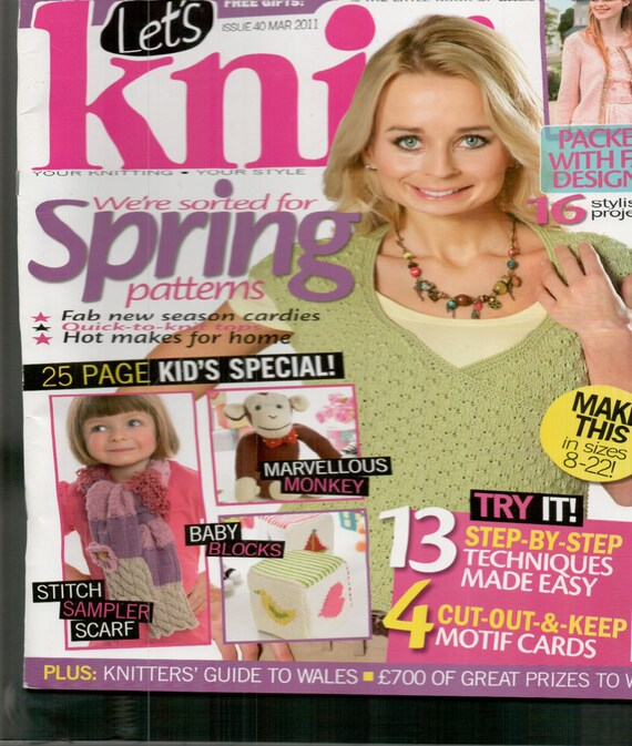 Let's Knit Knitting Magazine Issue 40 March 2011