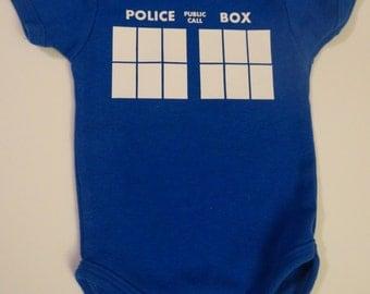 Tardis - Doctor Who - Onesie or Toddler T-shirt- Choose Size