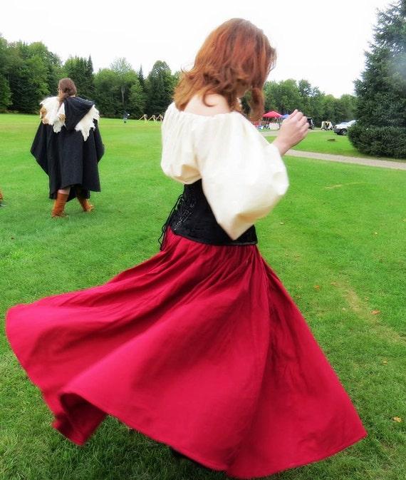 8 Gore Circle Skirt Renaissance LARP SCA Pennsic Gypsy Pirate Belly Dancer