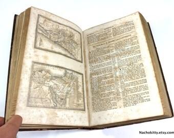 1830s Bible, Polyglott Historic Fessenden & Co's Edition