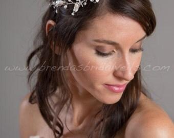 Rhinestone Starfish Headband, Freshwater Pearl Bohemian Headband, Wedding Headband, Bridal Hair Accessory - Jerrica