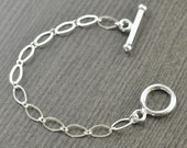 Sterling silver Toggle clasp 4 inch necklace extension