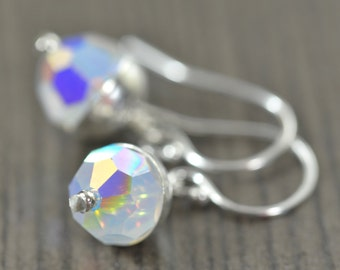 Opal earrings October birthstone earrings opal crystal earrings Libra Scorpio jewelry personalized jewelry