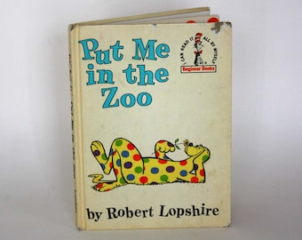Put Me In The Zoo by Robert Lopshire - Vintage Childrens Book c. 1960