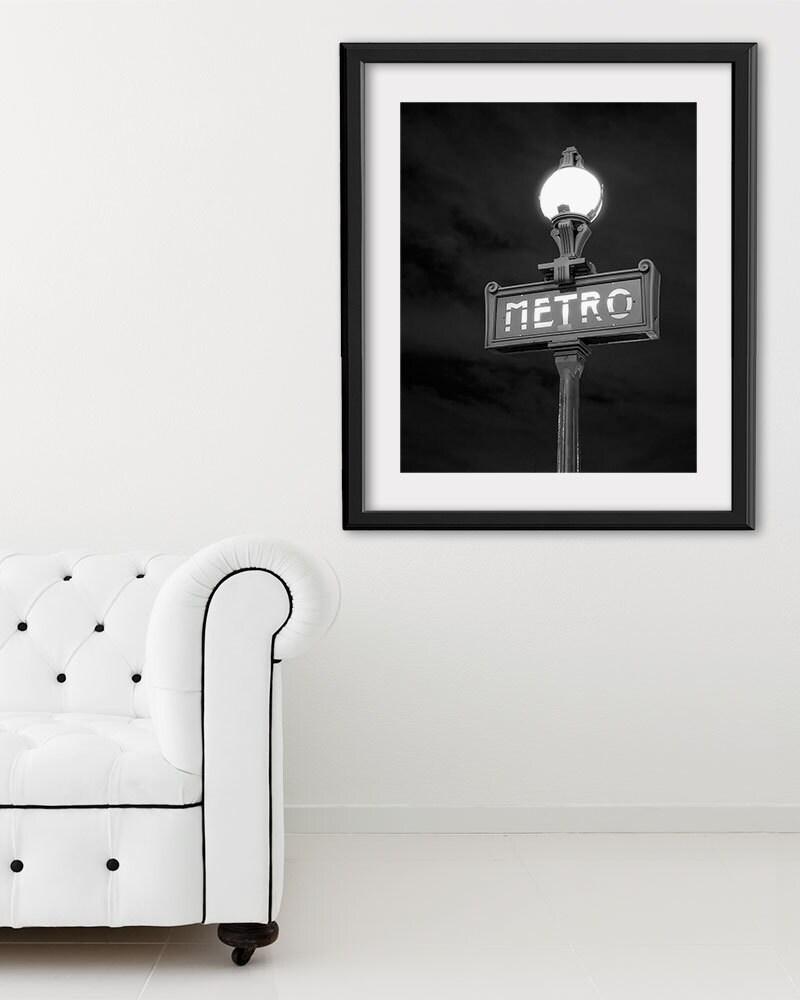 """Paris Print, Black and White Photography, """"Paris Noir 6"""" Extra Large Wall Art, Fine Art Print Paris Photography,  Film Noir"""