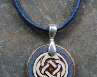 Blue/Brown Celtic Knot Pendant