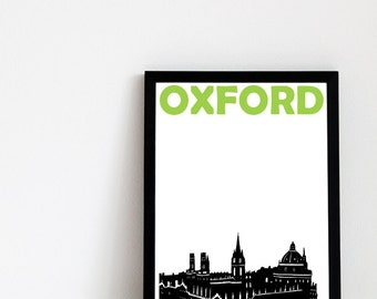 Oxford Print // UK Art // British Gift // Oxford Poster // Oxford Art // Gift for Men // Gift for Women // Dad Gift // Mum Gift