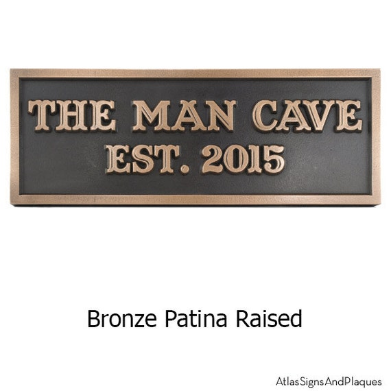 Man Room, Man Cave Plaque for Him Just Add Name and say I love you often 12x4 inches Made in the USA by Atlas Signs and Plaques